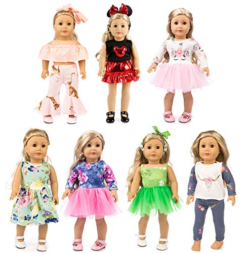 Top 10 Xfeyue 7 Sets Of 18 Inch Doll Clothes of 2020