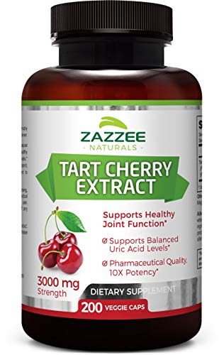 Top 10 Zazzee Tart Cherry Extract 3000 Mg 200 Capsules of 2021