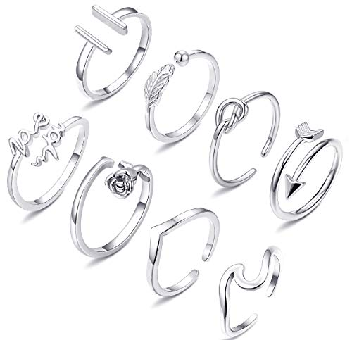 Top 10 Wfyou 8 Pcs Adjustable Rings For Women of 2021