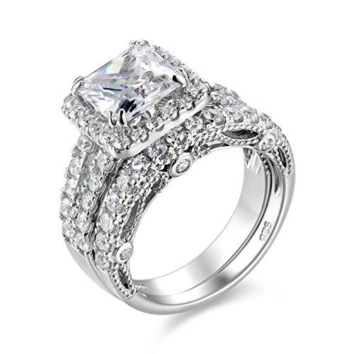 Top 10 Wuziwen Engagement Wedding Ring Set of 2021