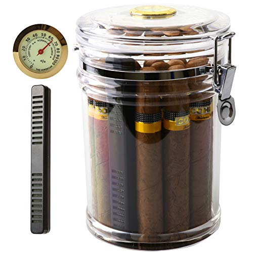 Top 10 Xifei Acrylic Humidor Jar With Humidifier And Hygrometer of 2021